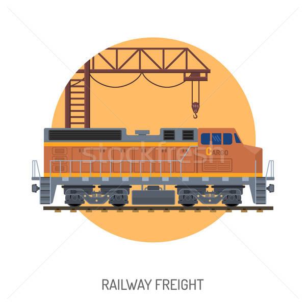 Railway Freight concept Stock photo © -TAlex-