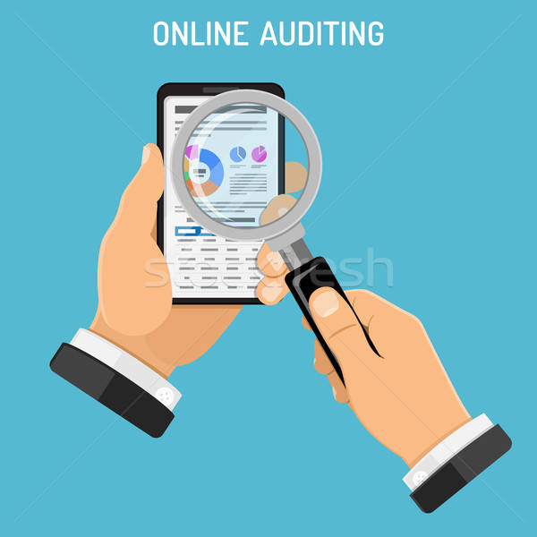 On-line imposto processo contabilidade auditor Foto stock © -TAlex-