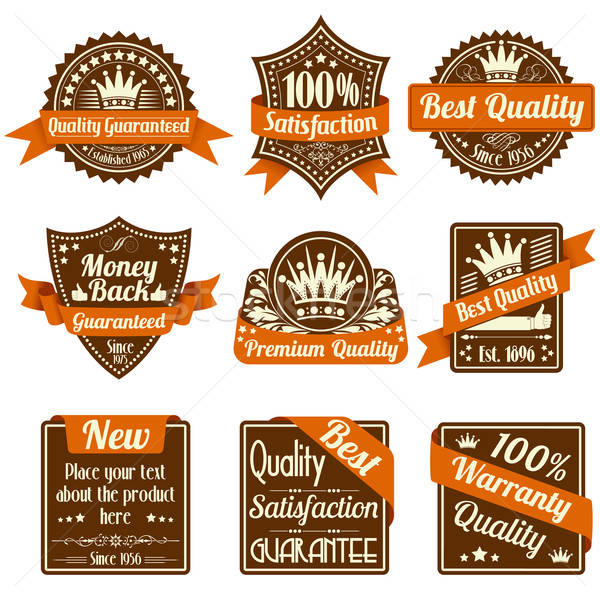 Quality and Guarantee Labels Stock photo © -TAlex-