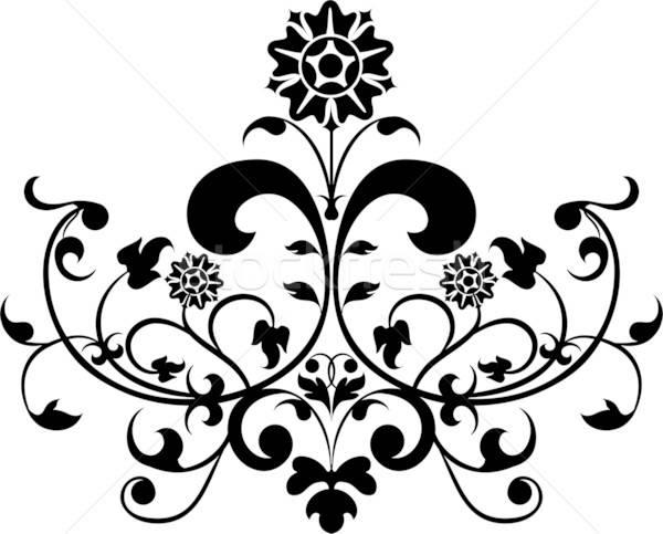 Alkotóelem dizájn elem terv illusztráció virág könyv Stock fotó © -TAlex-