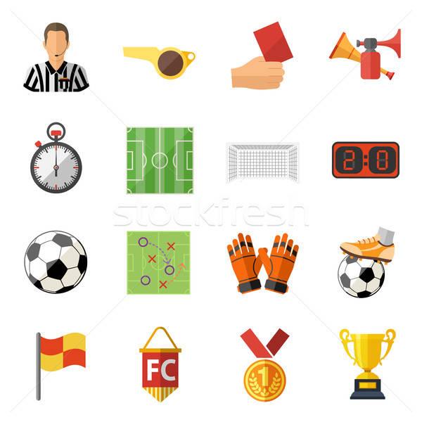 Foto stock: Futebol · futebol · árbitro · bola · estádio