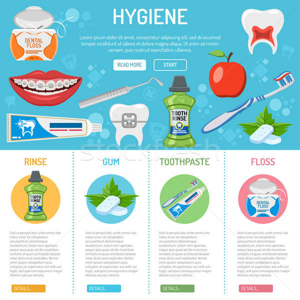 dental hygiene banner and infographics Stock photo © -TAlex-