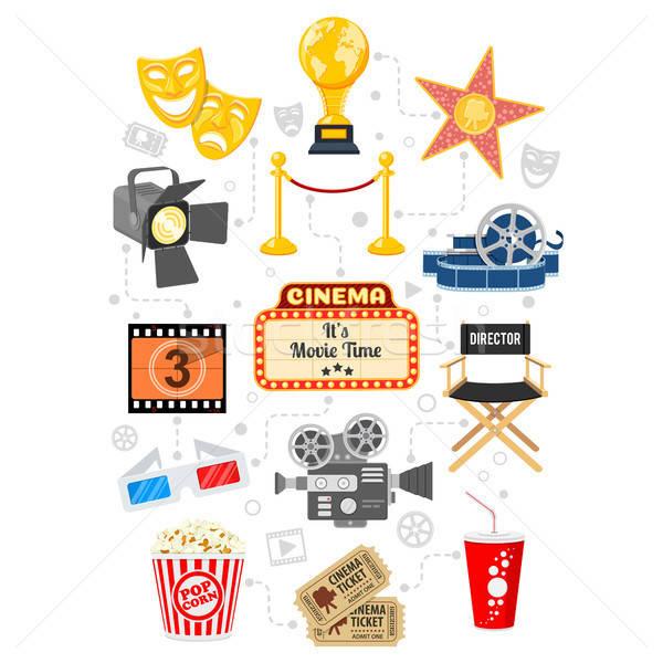Cinema and Movie Infographics Stock photo © -TAlex-