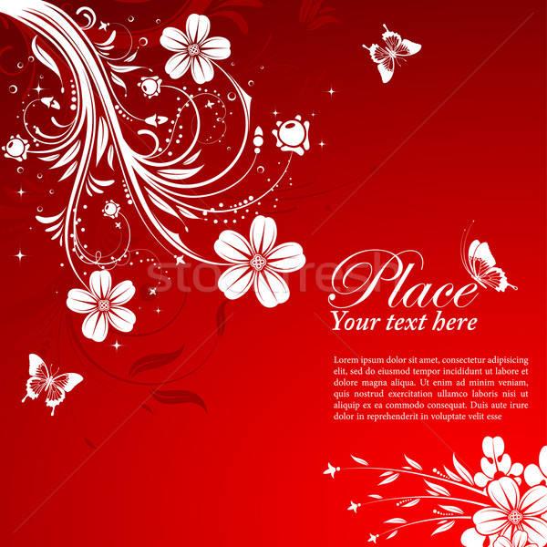 Floral mariposa elemento diseno naturaleza fondo Foto stock © -TAlex-