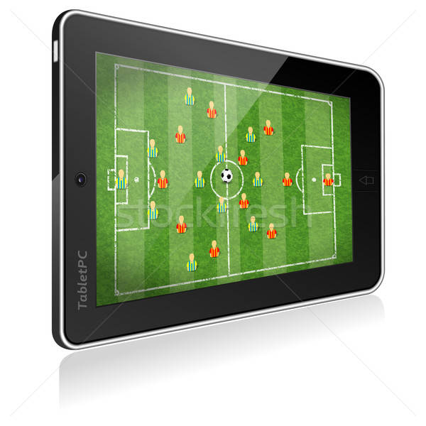 Tablet PC with Football Game Stock photo © -TAlex-