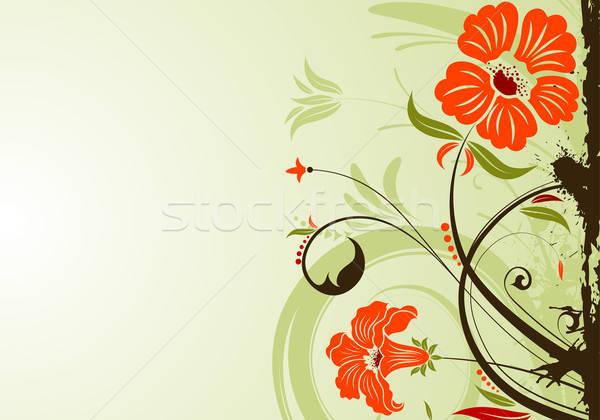 Virágmintás grunge alkotóelem terv textúra absztrakt Stock fotó © -TAlex-