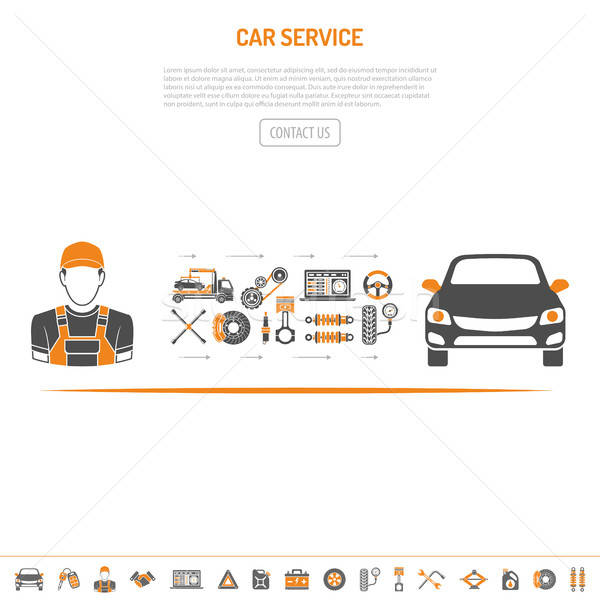Car Service Concept Stock photo © -TAlex-