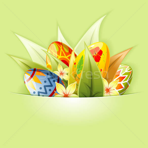Easter Background with Eggs mounted in pocket Stock photo © -TAlex-