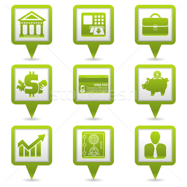 Financial Map Pointers Stock photo © -TAlex-