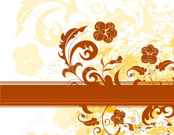 Grunge virág festék monokróm alkotóelem terv Stock fotó © -TAlex-