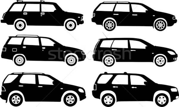 Silhouet auto vector auto weg snelheid Stockfoto © -TAlex-