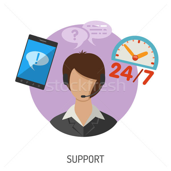 Support Flat Icon Stock photo © -TAlex-