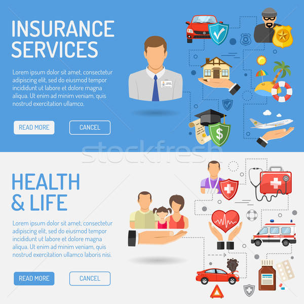 Insurance Services Banners Stock photo © -TAlex-