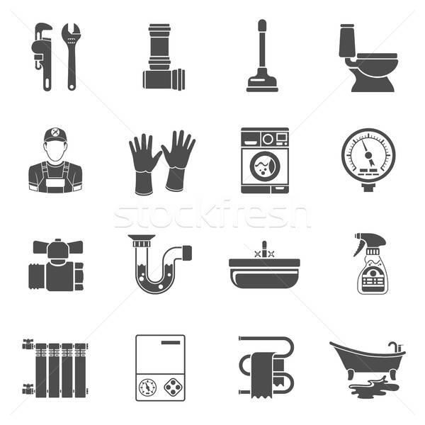 Plumbing Service Icons Set Stock photo © -TAlex-