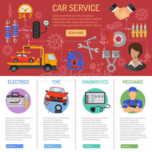 Car Service and Roadside Assistance Infographics Stock photo © -TAlex-