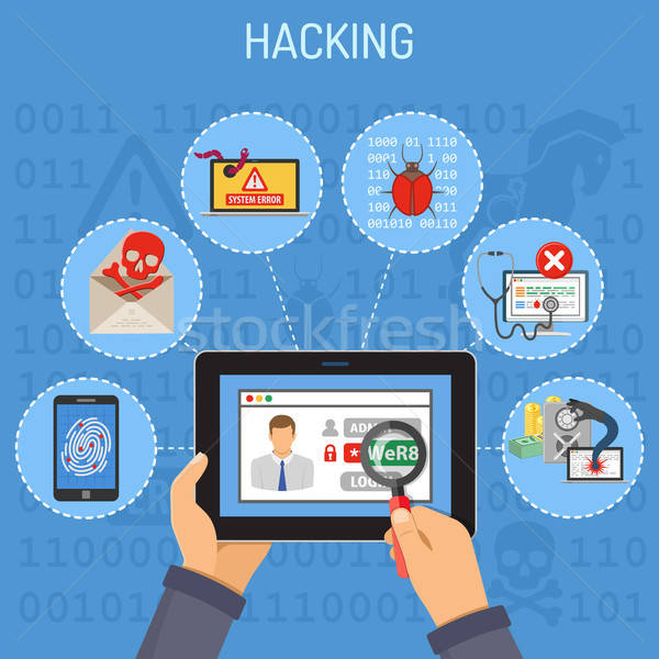Internet Security and Hacking concept Stock photo © -TAlex-