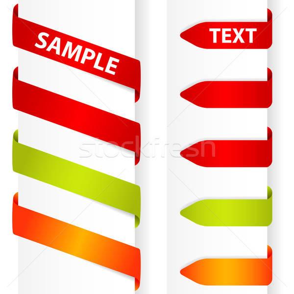 наклейку элемент дизайна бизнеса знак зеленый Сток-фото © -TAlex-
