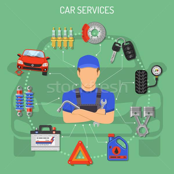Auto servizio icone meccanico strumenti Foto d'archivio © -TAlex-