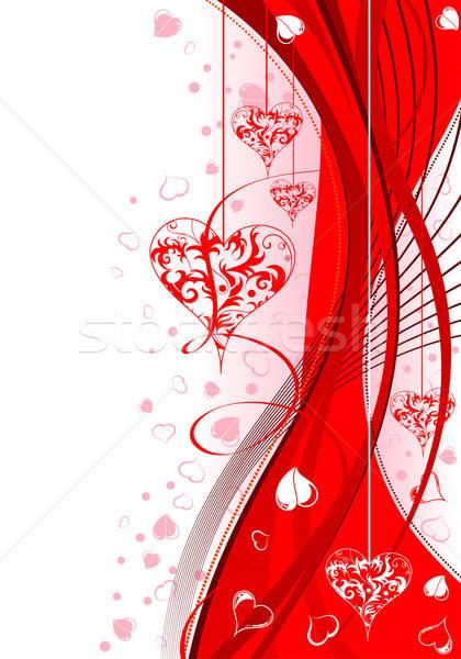 San valentino cuori modello onda elemento design abstract Foto d'archivio © -TAlex-