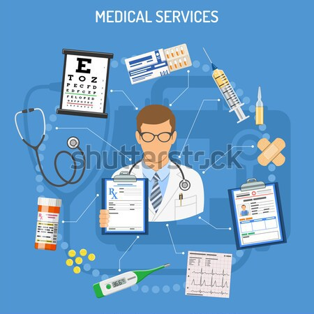 Medical concept with doctor Stock photo © -TAlex-
