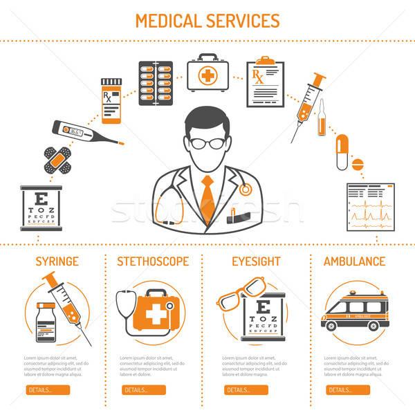 薬 医療 インフォグラフィック 医療 サービス ストックフォト © -TAlex-