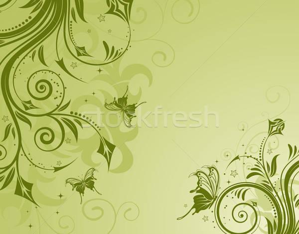 Fondo Primavera álbum Classic Flores Violetas: Fundo · Borboleta · Design · Vetor · Flor · Primavera