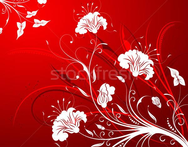 Virágmintás virág alkotóelem terv absztrakt háttér Stock fotó © -TAlex-