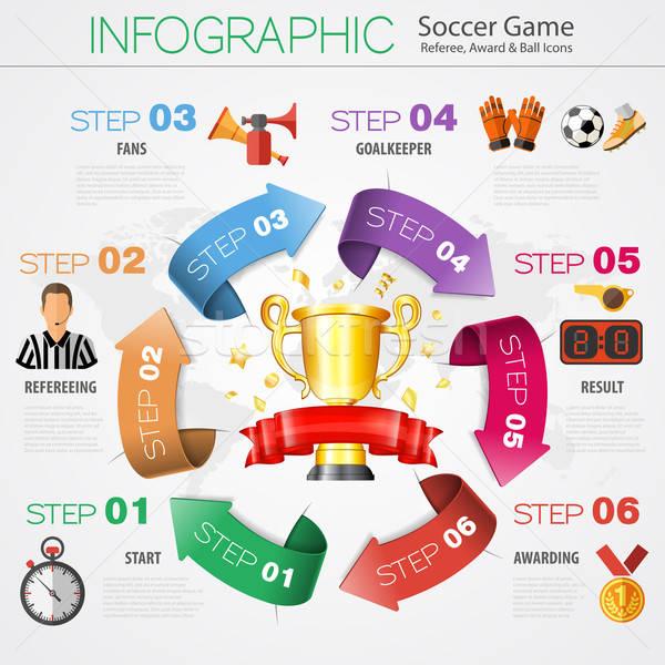Foto stock: Futebol · infográficos · futebol · realista · 3D · estilo