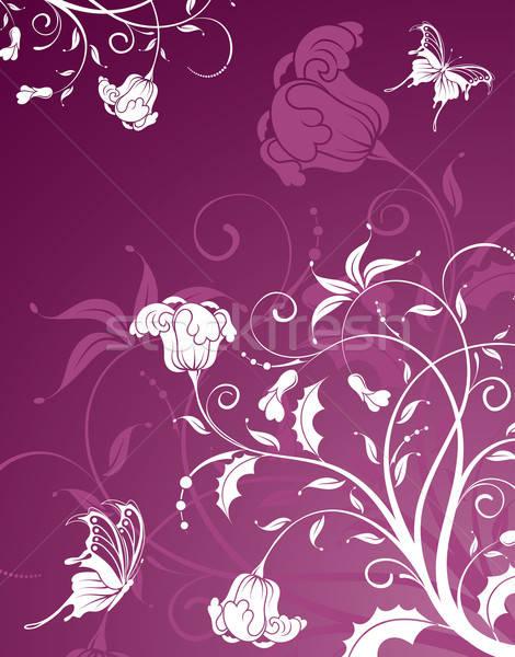 Virág absztrakt pillangó alkotóelem terv nyár Stock fotó © -TAlex-