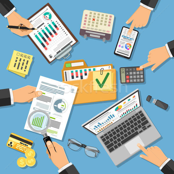 Workplace Auditing, Tax Process, Accounting Stock photo © -TAlex-