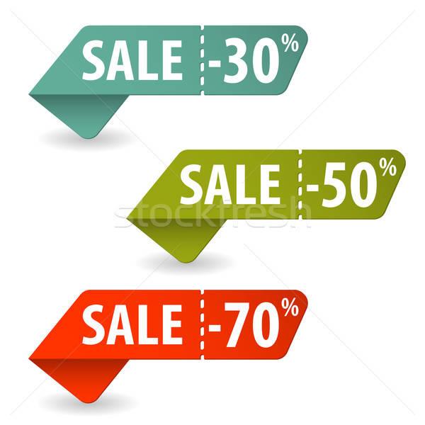 Vásár feliratok vásárlás szalag modern vásárol Stock fotó © -TAlex-