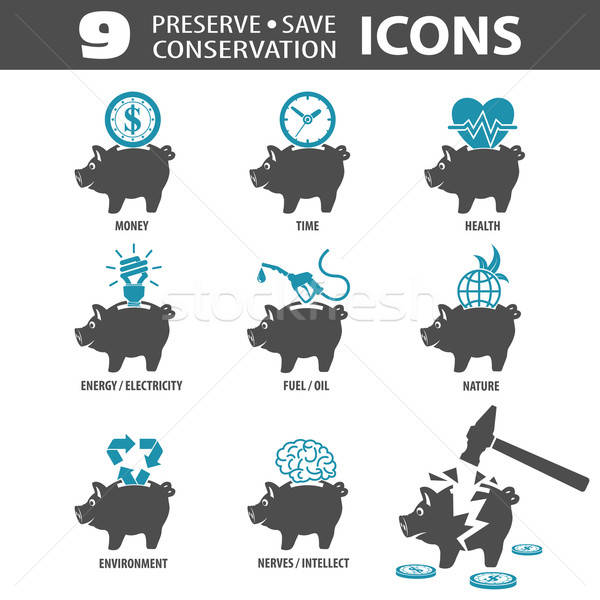 Preserve Save Icons Stock photo © -TAlex-