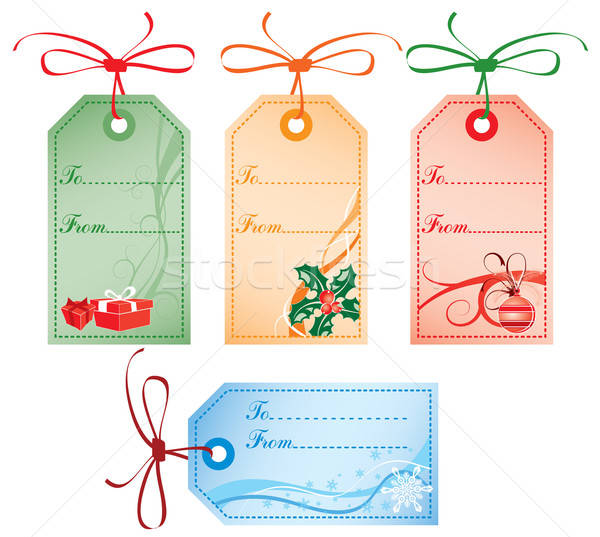 Christmas Gift Tags, vector Stock photo © -TAlex-