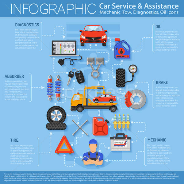 Car Service Infographics Stock photo © -TAlex-
