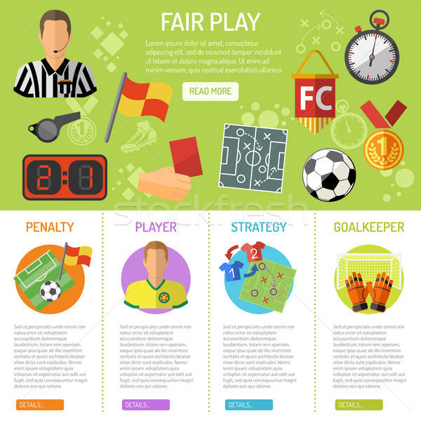 Soccer Banner and infographics Stock photo © -TAlex-