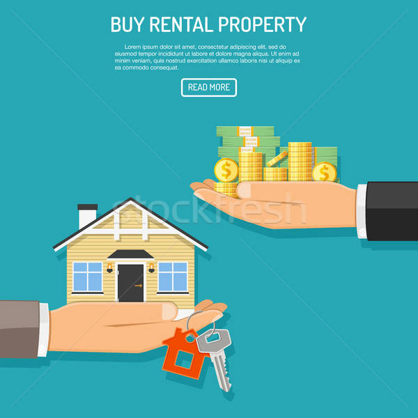 Stock photo: buy rent real estate