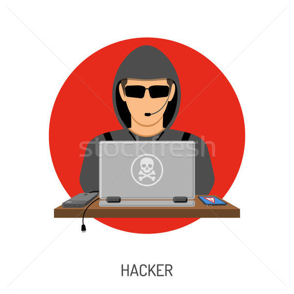 Cyber Crime with Hacker Avatar Stock photo © -TAlex-