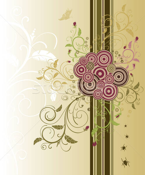 Abstrato floral caos bicho elemento projeto Foto stock © -TAlex-