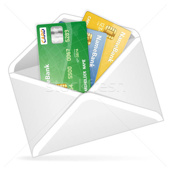 Open busta carte di credito business carta Foto d'archivio © -TAlex-