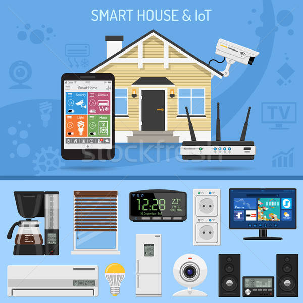 Inteligente casa internet coisas casa Foto stock © -TAlex-