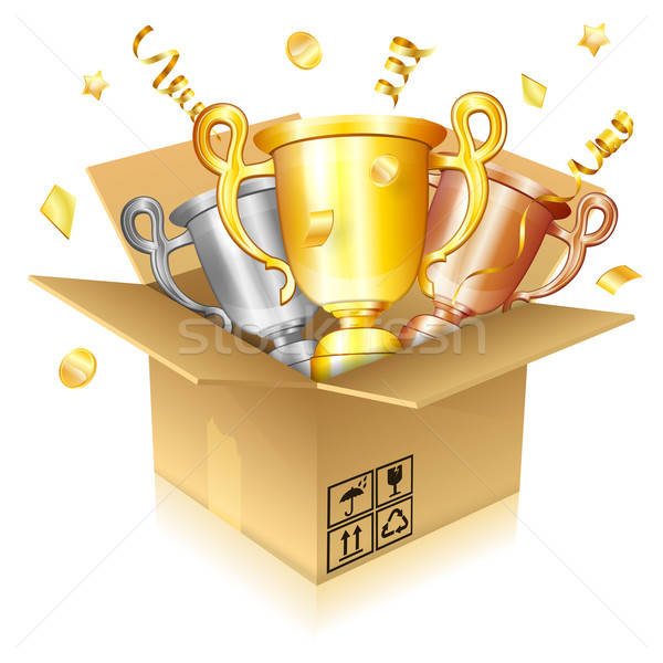 Set of Gold, Silver and Bronze Trophies Stock photo © -TAlex-