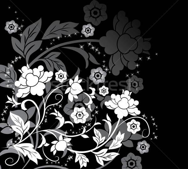 Virág elemek terv illusztráció művészet nyár Stock fotó © -TAlex-
