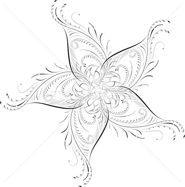 Stockfoto: Element · ontwerp · hoek · bloem · vector · bloem · kunst