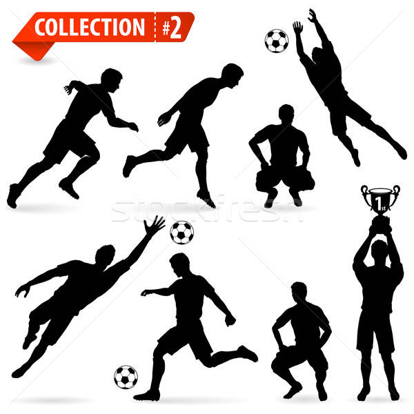 Silhouettes football joueurs football Photo stock © -TAlex-