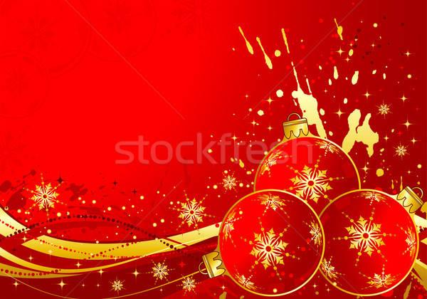 Natale sfera modello onda elemento design texture Foto d'archivio © -TAlex-