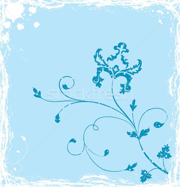Grunge background flower, elements for design, vector Stock photo © -TAlex-