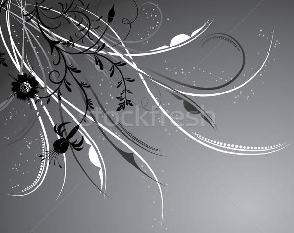 Stock photo: Floral background, elements for design, vector