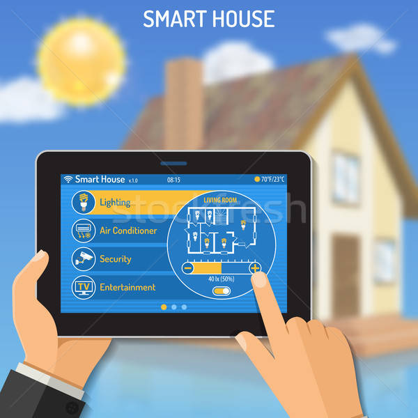 Smart House and internet things Stock photo © -TAlex-