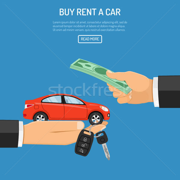 purchase or rental car Stock photo © -TAlex-