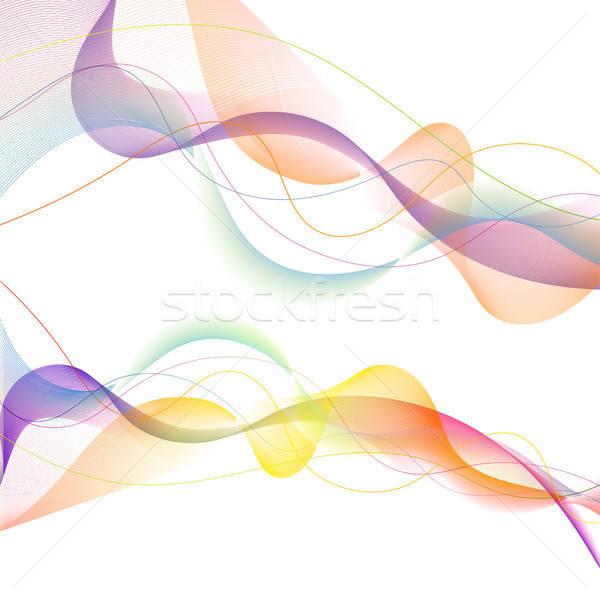 Onda modello di progettazione moderno abstract modello onda isolato Foto d'archivio © -TAlex-